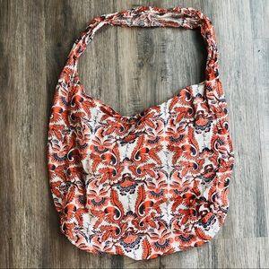 Free people boho tote bag orange lightweight